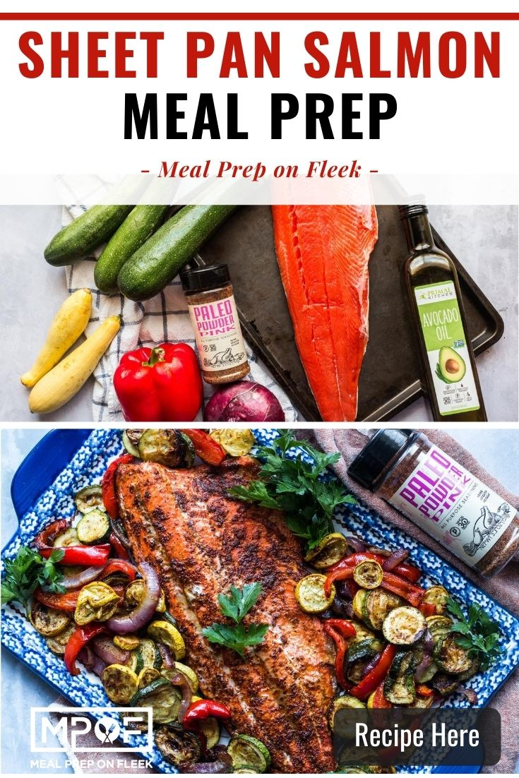 Sheet Pan Salmon and Veggies Meal Prep