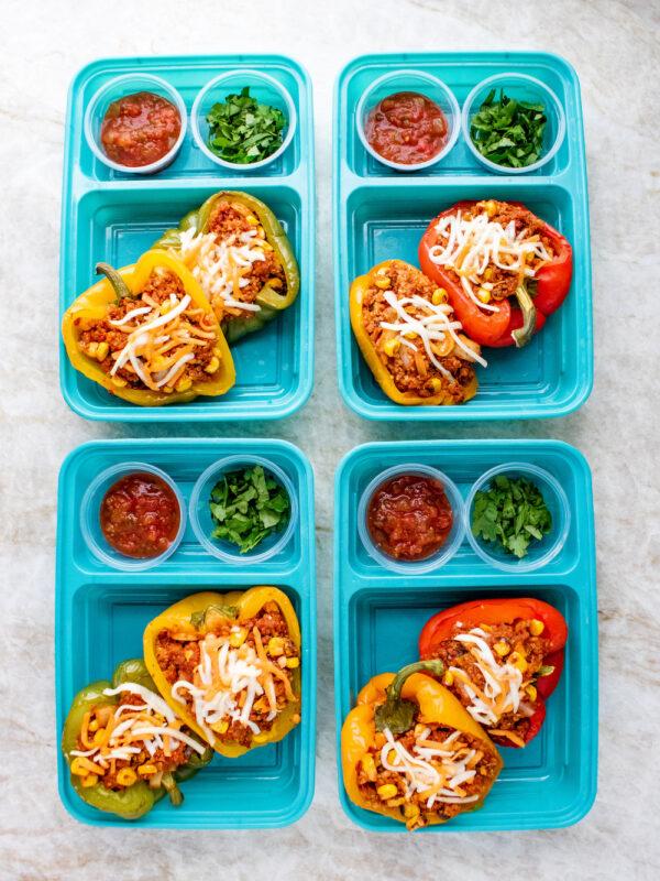 Vegetarian Chorizo and Quinoa Stuffed Peppers