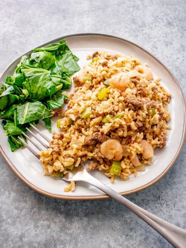 10-Ingredient Cajun Dirty Rice with Shrimp