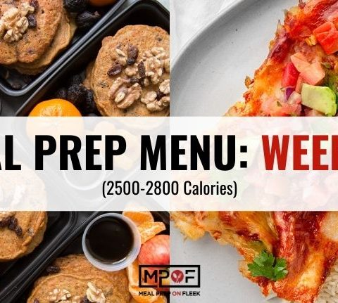 2500-2800 calorie meal prep menu week 42