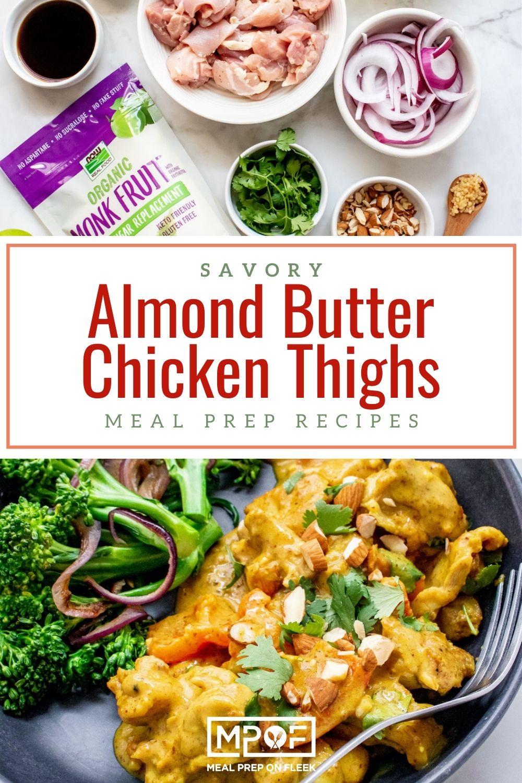Savory Almond Butter Chicken Thigh Skillet