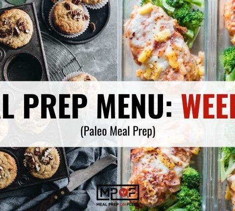 Paleo Meal Prep Menu Week 40