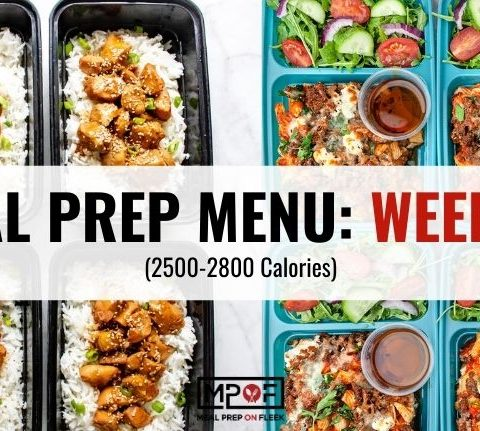 2500-2800 Calorie Meal Prep Menu Week 43