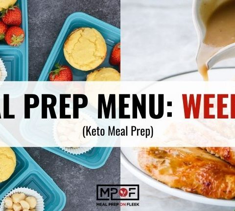 Keto Meal Prep Menu week 38