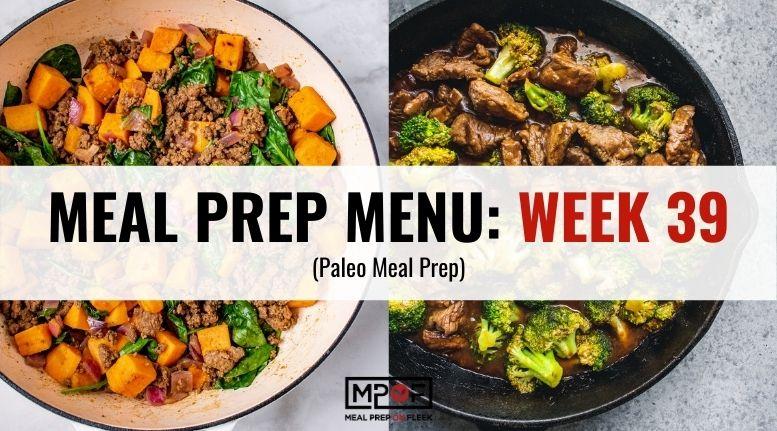 paleo Meal Prep Menu week 39