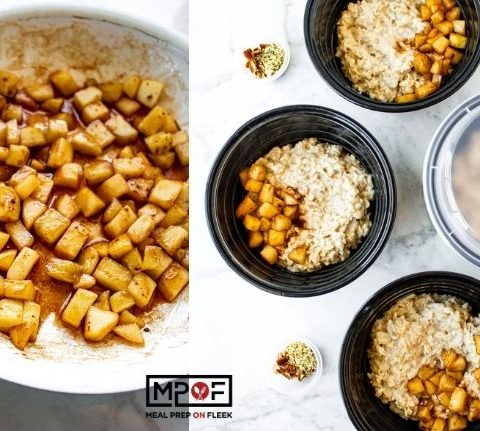 Vegan Oatmeal Bowls With Sauteed Cinnamon Apples