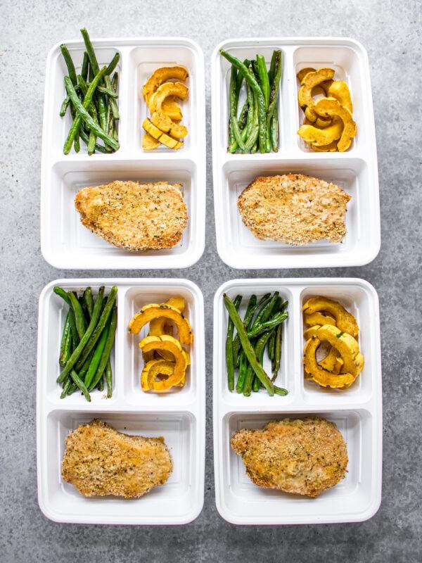 Crispy Pork Chops and Roasted Vegetables