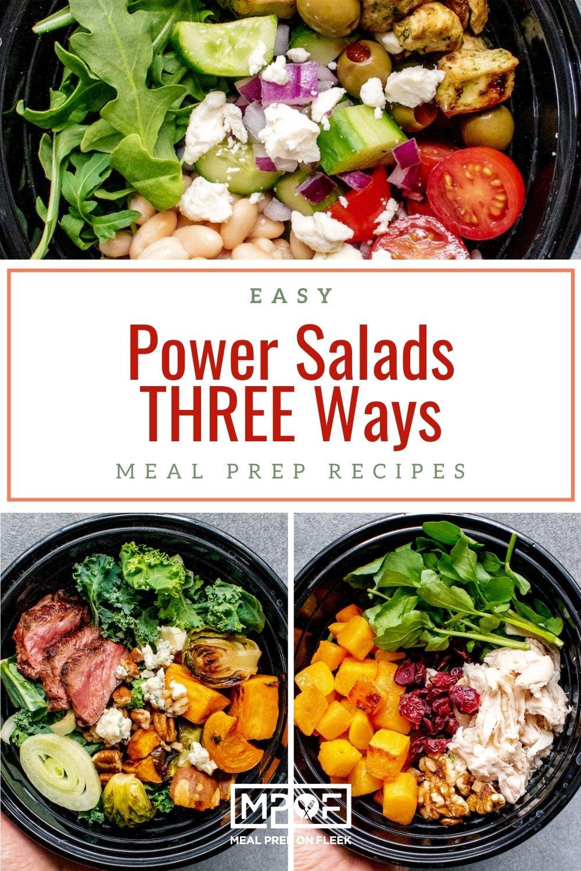 3 Easy Power Salad Bowl Meal Prep Recipes