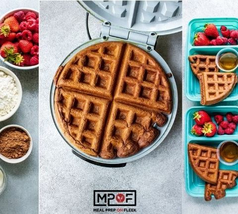 Freezer Friendly Chocolate Waffles