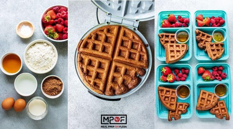 Freezer Friendly Chocolate Waffles