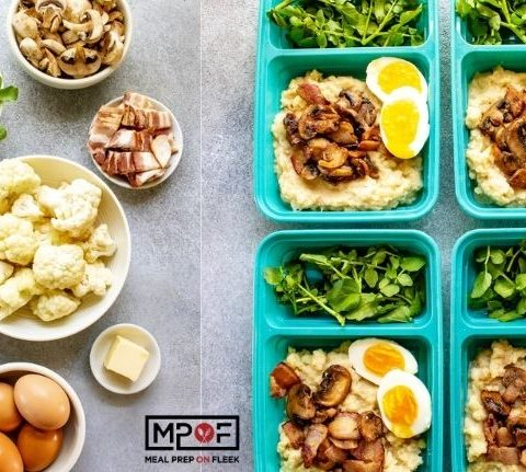 Cauliflower Mash Breakfast Bowls