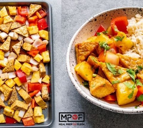 Freeze Friendly Sheet Pan Sweet and Sour Tempeh