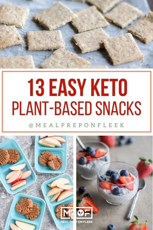 Keto Plant Based Snacks Meal Prep Pin