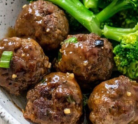 AIP Mongolian Beef Meatballs