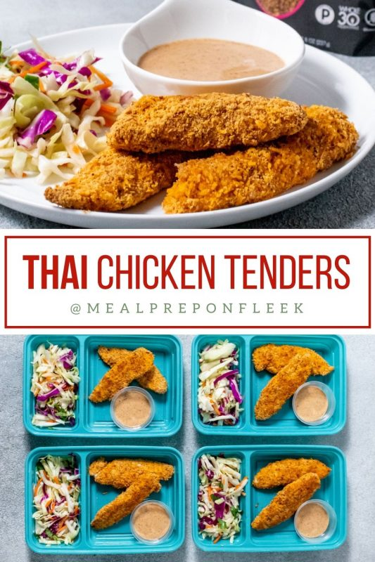 Thai Chicken Tenders with Creamy Almond Dipping Sauce