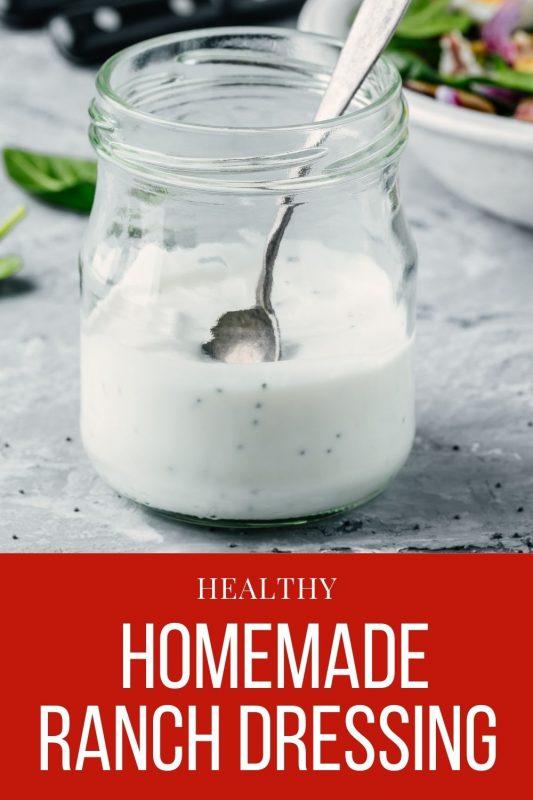 DIY Healthy Homemade Ranch Dressing Recipe