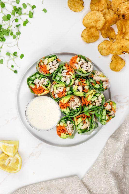 Avocado & Chicken Summer Rolls