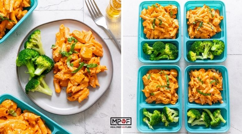 Creamy Roasted Red Pepper and Parmesan Quinoa Pasta